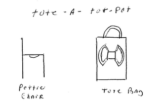 mark for TOTE - A - TOT - POT POTTIE CHAIR TOTE BAG, trademark #76693462