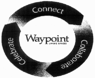 mark for CONNECT COLLABORATE CELEBRATE WAYPOINT LIVING SPACES, trademark #76703914