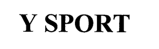 mark for Y SPORT, trademark #76709021
