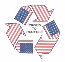 mark for PROUD TO RECYCLE, trademark #76711015