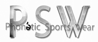 mark for PSW PHONÉTIC SPORTS WEAR, trademark #76711359