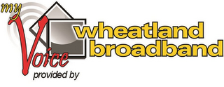 mark for MY VOICE PROVIDED BY WHEATLAND BROADBAND, trademark #76712283