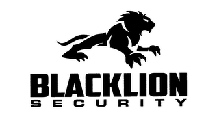 mark for BLACKLION S E C U R I T Y, trademark #76712576