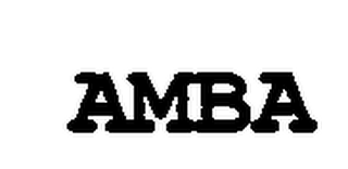 mark for AMBA, trademark #76712614