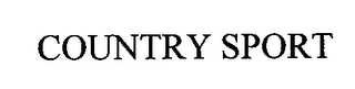 mark for COUNTRY SPORT, trademark #76712729