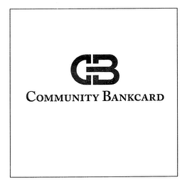 mark for CB COMMUNITY BANKCARD, trademark #76713300