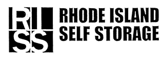 mark for RI SS RHODE ISLAND SELF STORAGE, trademark #76713877