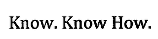 mark for KNOW. KNOW HOW, trademark #76714354