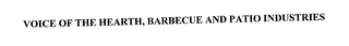 mark for VOICE OF THE HEARTH, BARBECUE AND PATIO INDUSTRIES, trademark #76975538