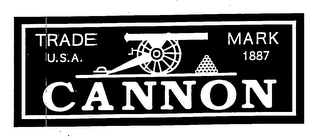 mark for CANNON TRADE MARK U.S.A. 1887, trademark #76978321