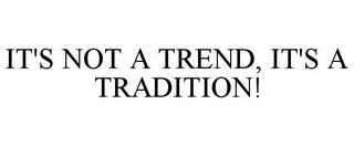 mark for IT'S NOT A TREND, IT'S A TRADITION!, trademark #77001627
