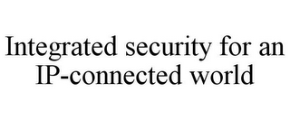 mark for INTEGRATED SECURITY FOR AN IP-CONNECTED WORLD, trademark #77006431