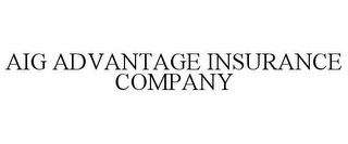 mark for AIG ADVANTAGE INSURANCE COMPANY, trademark #77006906