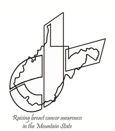 mark for RAISING BREAST CANCER AWARENESS IN THE MOUNTAIN STATE, trademark #77012048
