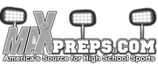 mark for MAXPREPS.COM AMERICA'S SOURCE FOR HIGH SCHOOL SPORTS, trademark #77012101