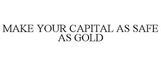 mark for MAKE YOUR CAPITAL AS SAFE AS GOLD, trademark #77016083