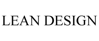 mark for LEAN DESIGN, trademark #77019136