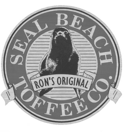 mark for SEAL BEACH TOFFEE CO. RON'S ORIGINAL, trademark #77021535