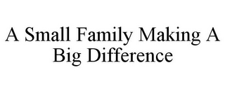 mark for A SMALL FAMILY MAKING A BIG DIFFERENCE, trademark #77024536