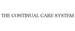 mark for THE CONTINUAL CARE SYSTEM, trademark #77026739