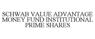 mark for SCHWAB VALUE ADVANTAGE MONEY FUND INSTITUTIONAL PRIME SHARES, trademark #77027323