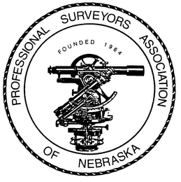 mark for PROFESSIONAL SURVEYORS ASSOCIATION OF NEBRASKA FOUNDED 1964, trademark #77027905