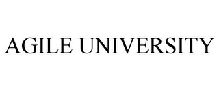 mark for AGILE UNIVERSITY, trademark #77032515