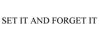 mark for SET IT AND FORGET IT, trademark #77032560