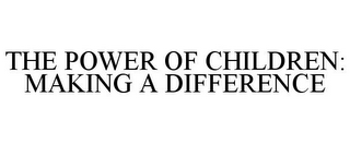 mark for THE POWER OF CHILDREN: MAKING A DIFFERENCE, trademark #77040743