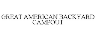 mark for GREAT AMERICAN BACKYARD CAMPOUT, trademark #77041780