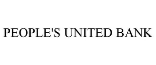 mark for PEOPLE'S UNITED BANK, trademark #77042905