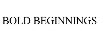 mark for BOLD BEGINNINGS, trademark #77044712
