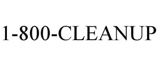 mark for 1-800-CLEANUP, trademark #77048630