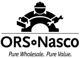 mark for ORS NASCO PURE WHOLESALE. PURE VALUE., trademark #77062665