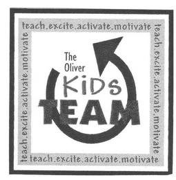 mark for THE OLIVER KIDS TEAM TEACH. EXCITE. ACTIVATE. MOTIVATE, trademark #77065117