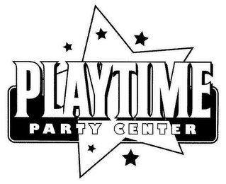 mark for PLAYTIME PARTY CENTER, trademark #77068764