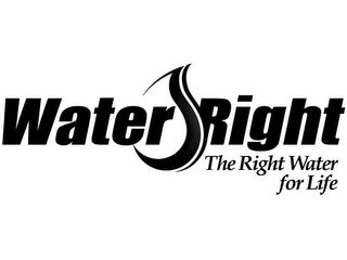 mark for WATER RIGHT THE RIGHT WATER FOR LIFE, trademark #77069088