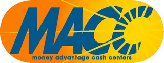 mark for MACC MONEY ADVANTAGE CASH CENTERS, trademark #77069708