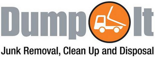 mark for DUMP IT JUNK REMOVAL, CLEAN UP AND DISPOSAL, trademark #77071091