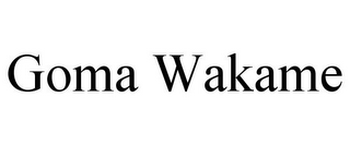 mark for GOMA WAKAME, trademark #77072693
