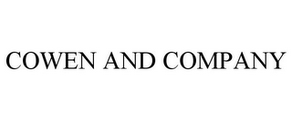 mark for COWEN AND COMPANY, trademark #77074140