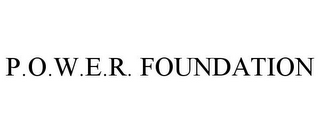 mark for P.O.W.E.R. FOUNDATION, trademark #77076839