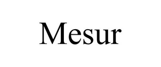 mark for MESUR, trademark #77077827