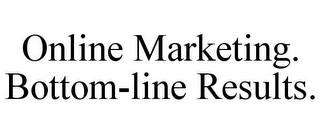 mark for ONLINE MARKETING. BOTTOM-LINE RESULTS., trademark #77082408