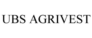 mark for UBS AGRIVEST, trademark #77085967