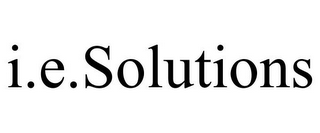 mark for I.E.SOLUTIONS, trademark #77087247