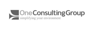 mark for ONE CONSULTING GROUP SIMPLIFYING YOUR ENVIRONMENT, trademark #77088576