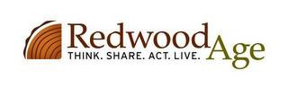 mark for REDWOODAGE THINK. SHARE. ACT. LIVE., trademark #77089994