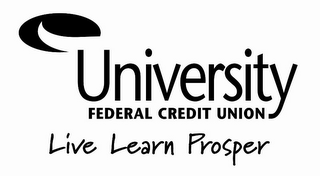 mark for UNIVERSITY FEDERAL CREDIT UNION LIVE LEARN PROSPER, trademark #77091131