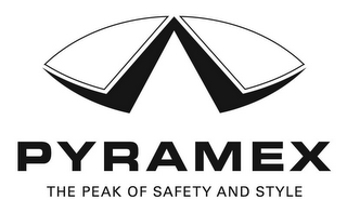 mark for PYRAMEX THE PEAK OF SAFETY AND STYLE, trademark #77098927